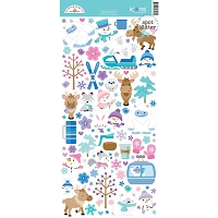 Winter Wonderland Icons Large cardstock stickers