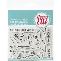 Shark Hugs Clear Stamp