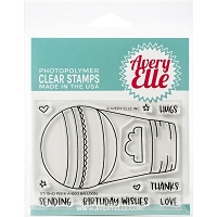 Peek-A-Boo Balloon Clear Stamp