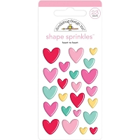 Heart To Heart, Love Notes Adhesive Matte Enamel Shapes