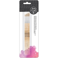 Kelly Creates Round Watercolor Round Brush Set 4/Pkg