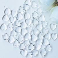 Heart Droplets 3 Dress My Crafts Water Droplet Embellishments 100/Pkg