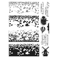 Tulip Field 6x8 Clear Stamp