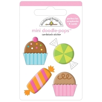 Sweet Celebration, Hey Cupcake Doodle Pops 3D Sticker