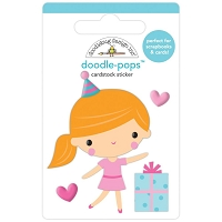 Party Girl, Hey Cupcake Doodle Pops 3D Sticker