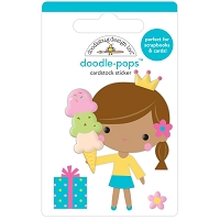 Birthday Princess, Hey Cupcake Doodle Pops 3D Stickers