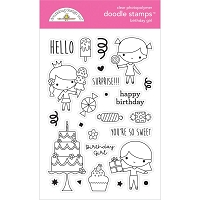 Birthday Girl, Hey Cupcake Doodlebug Clear Doodle Stamps