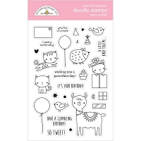Party Animal-Girl, Hey Cupcake Doodlebug Clear Doodle Stamps
