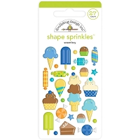 Sweet Boy, Party Time Doodlebug Sprinkles Adhesive Enamel Shapes