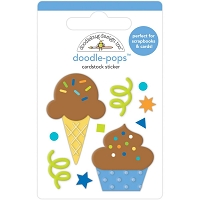 Cake & Ice Cream, Party Time Pops 3D Stickers