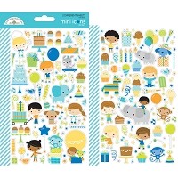 Party Time Dooblebug Mini Cardstock Stickers 2/Pkg