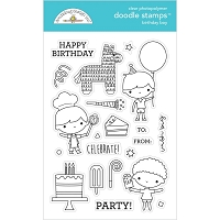 Birthday Boy, Party Time Doodlebug Clear Doodle Stamps
