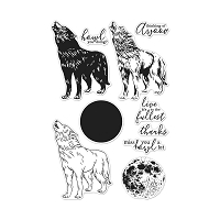 Hero Arts Howling Wolf Color Layering Clear Stamps 4