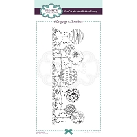 Bauble Garland Creative Expressions Designer Boutique Pre Cut Rubber Stamp