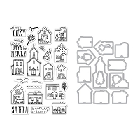 Hero Arts Cozy Town Stamp & Die Combo
