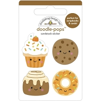 Fall Treats Doodle-Pops 3D Stickers