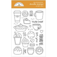Pumpkin Spice DB Clear Doodle Stamps