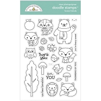 Forest Friends DB Clear Doodle Stamps