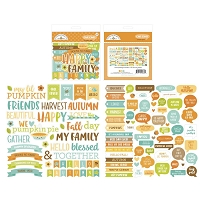 Pumpkin Spice DB Odds & Ends Chit Chat Die-Cuts