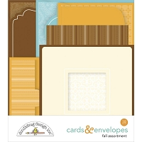 Pumpkin Spice Doodlebug Cards & Envelopes
