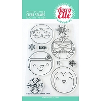 Holiday Circle Tags Stamp