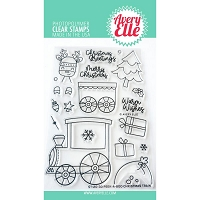 Peek-A-Boo Christmas Train Stamp