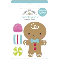 Goody Goody Gumdrops Doodlebug Doodle-Pops 3D Stickers