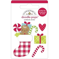Stocking Stuffers Doodlebug Doodle-Pops 3D Stickers