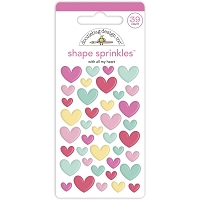With All My Heart Doodlebug Sprinkles Adhesive Enamel Shapes