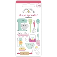 Baked With Love Doodlebug Sprinkles Adhesive Enamel Shapes
