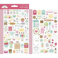 Made With Love Dooblebug Mini Cardstock Stickers 2/Pkg