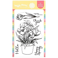 Crocus Waffle Flower Crafts Clear Stamps 4