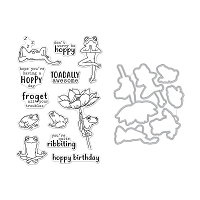 Hoppy Day Hero Arts Clear Stamp & Die Combo