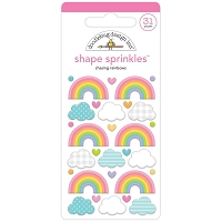 Chasing Rainbows Doodlebug Sprinkles Adhesive Enamel Shapes