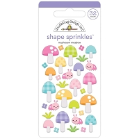 Mushroom Meadow Doodlebug Sprinkles Adhesive Enamel Shapes