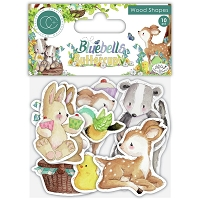 Bluebells & Buttercups Craft Consortium Laser-Cut Wooden Shapes 10/Pkg