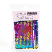 REVERSE SEQUIN - RAINBO HOLOGRAM TO SILVER HOLOGRAM