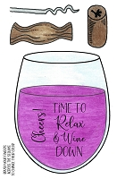WINE DOWN CLEAR STAMP SET