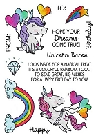 UNICORN BIRTHDAY - CLEAR STAMP SET