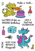 DRAGON BIRTHDAY - CLEAR STAMP SET