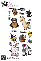 Critter Costume Party 4X8 Clear Stamp - N2S