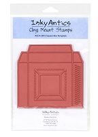 SQUARE BOX TEMPLATE - RUBBER CLING MOUNT STAMP