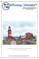 Beach Lighthouse Rubber Cling Stamp