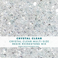 Crystal Clear - Flat-Backed Resin Rhinestone Mix