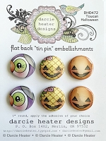 Toucan Halloween Tin Pins