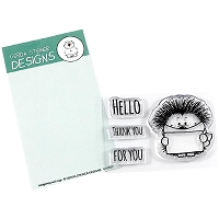 Hedgehog with Sign 2x3 Clear Stamp Set