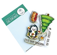 Tangled Penguin 3x4 Clear Stamp Set