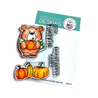 Pumpkin Bear 3x4 Clear Stamp Set
