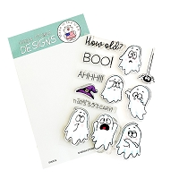 Ghosts 4x6 Clear Stamp Set