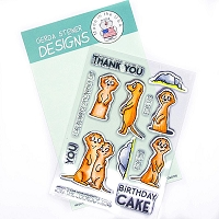 Meerkats on the Lookout! 4x6 Clear Stamp Set